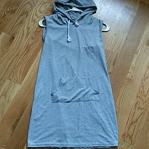 Hooded Grey sleeveless tunic